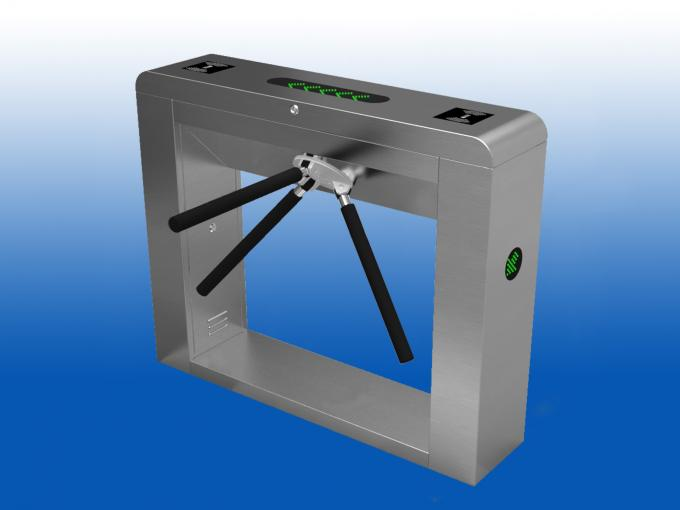 Waist Arm Dropping Tripod Turnstile Gate With LED Direction Indicator