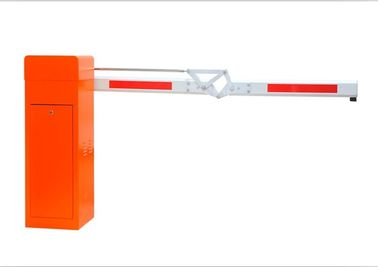 China Orange Foldable Automatic Car Parking Barriers Aluminium Alloy Arm Material distributor
